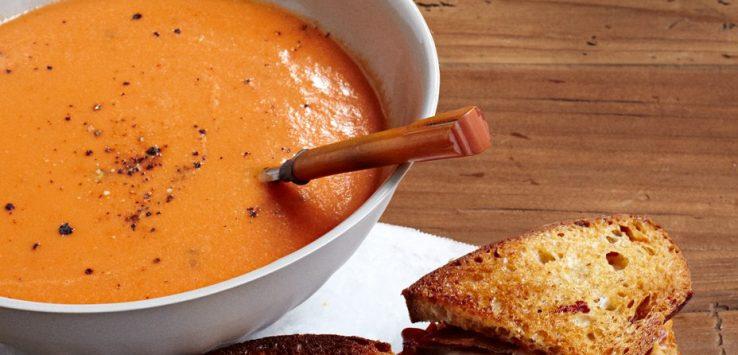 zuppa di pomodori e carote