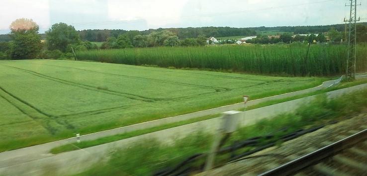 in treno in baviera
