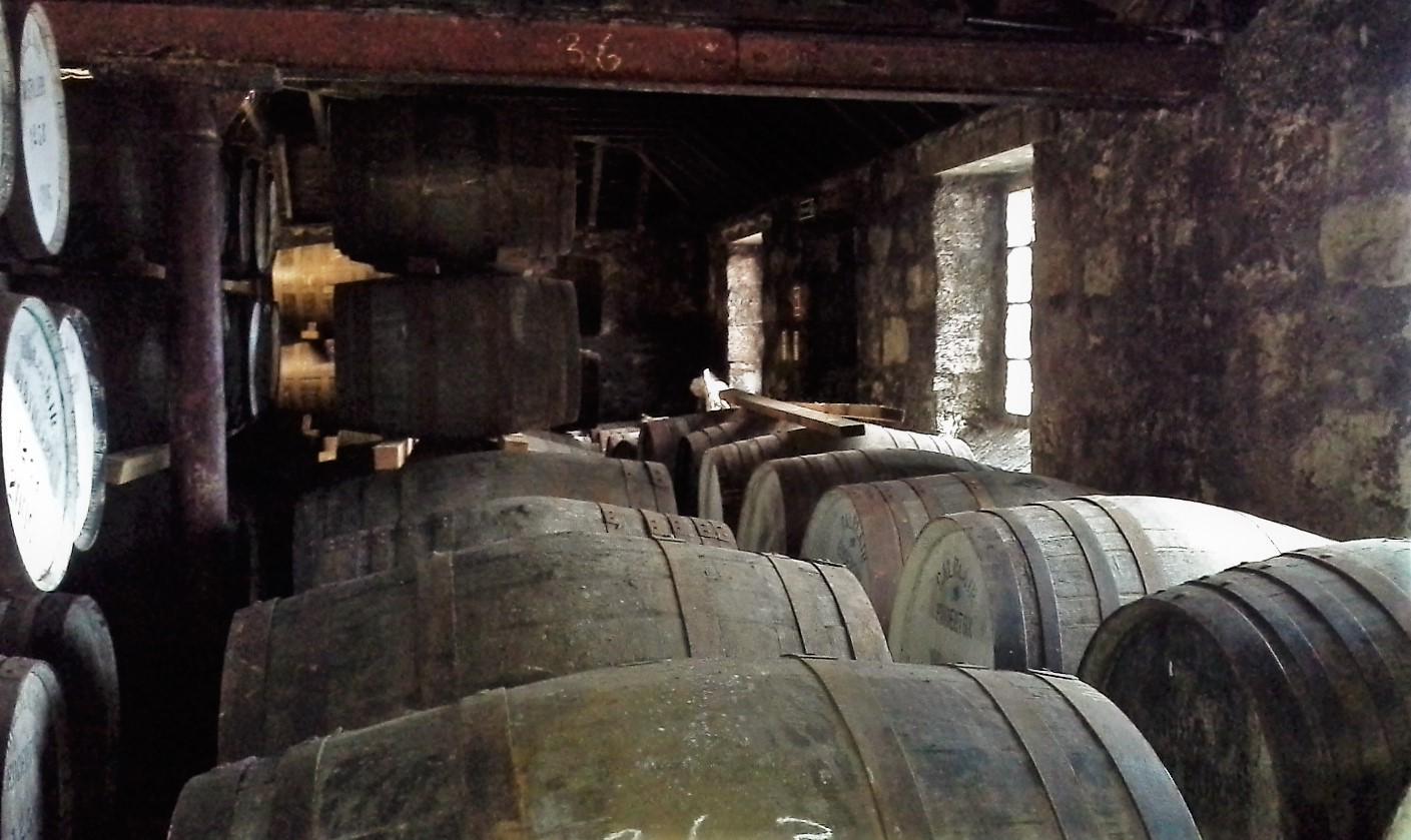interno della balblair distillery