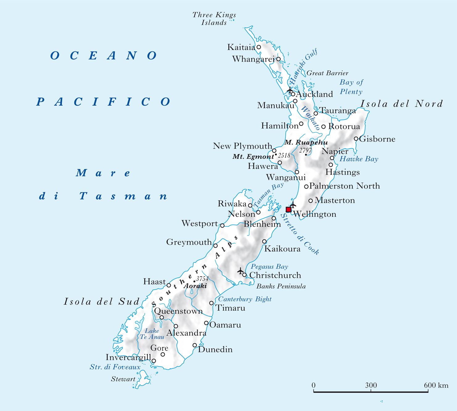Isole nuova zelanda