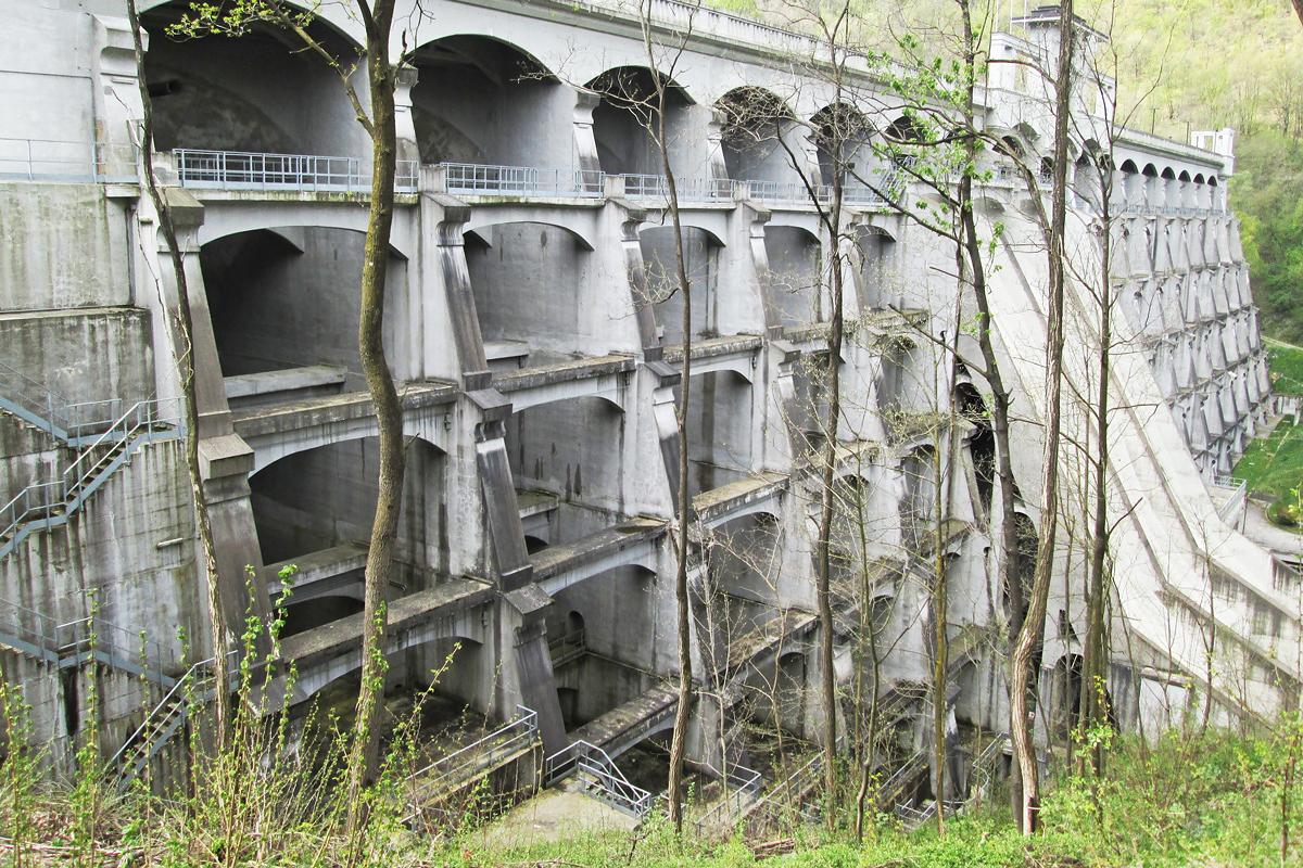 struttura della Diga del Molato