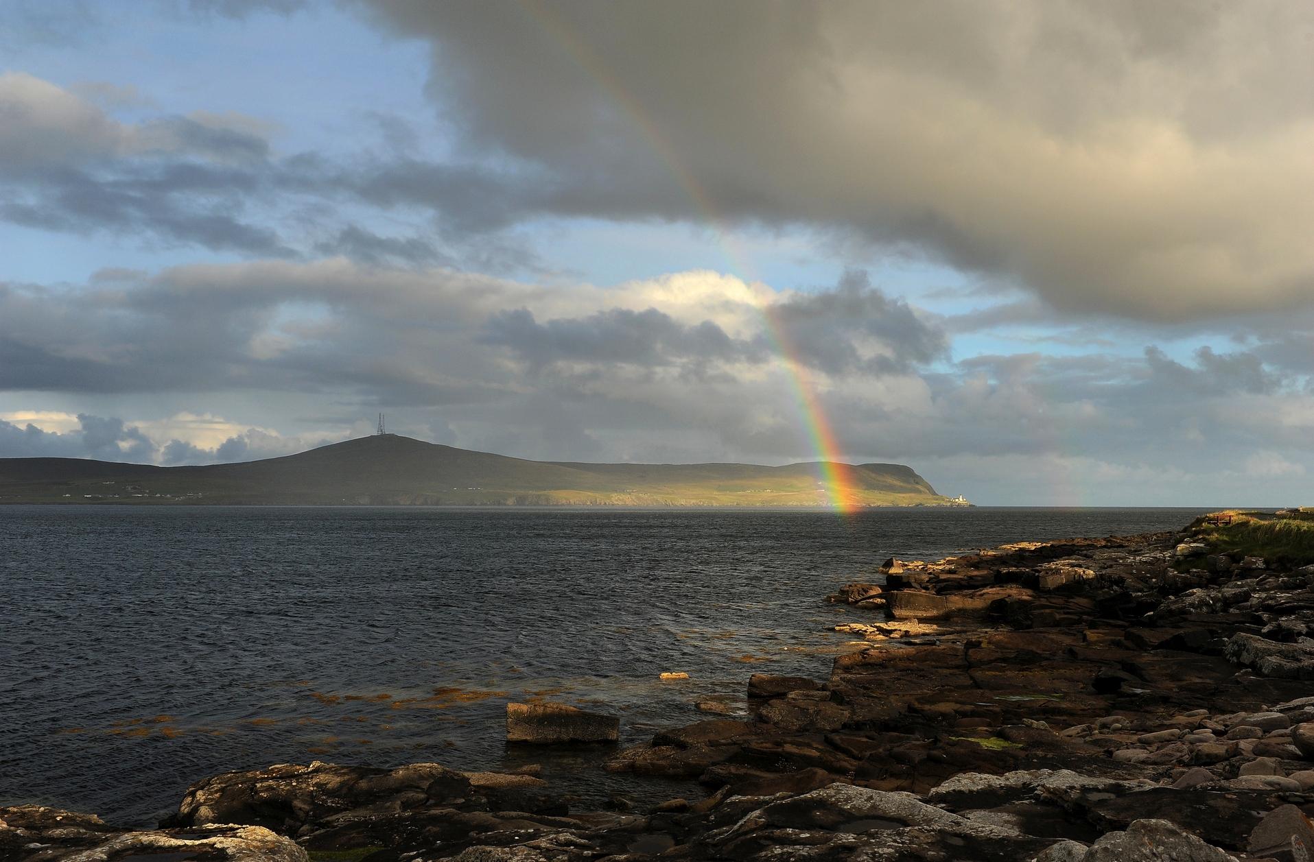 Arcobaleno isole Shetland