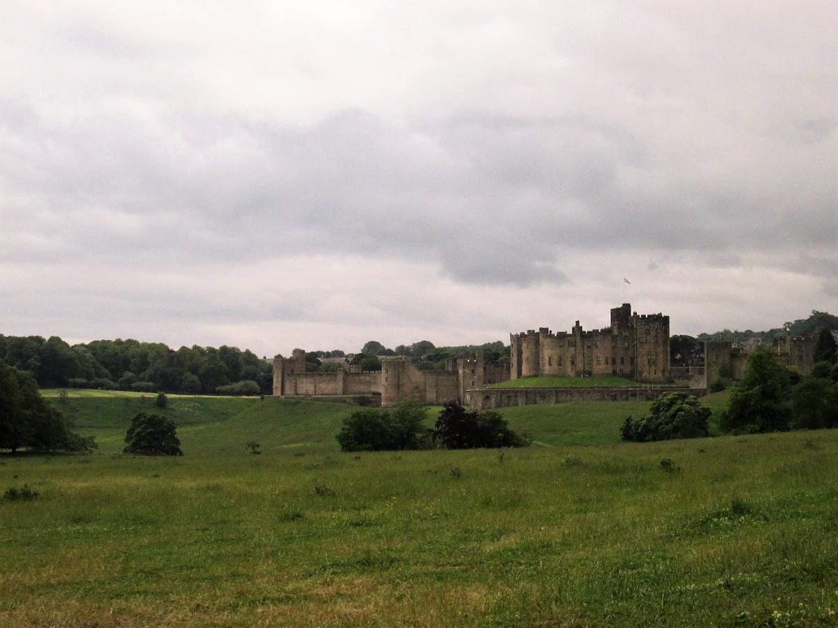 Vista su Alnwick Castle