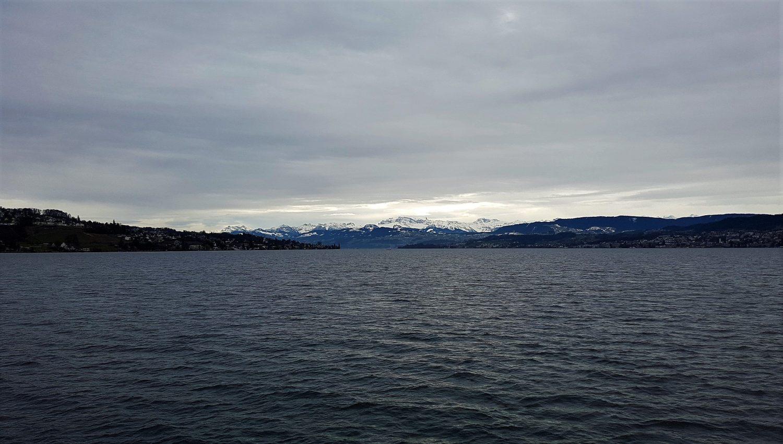 In inverno sul lago di Zurigo