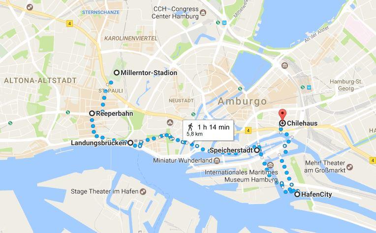 Itinerario di viaggio Amburgo