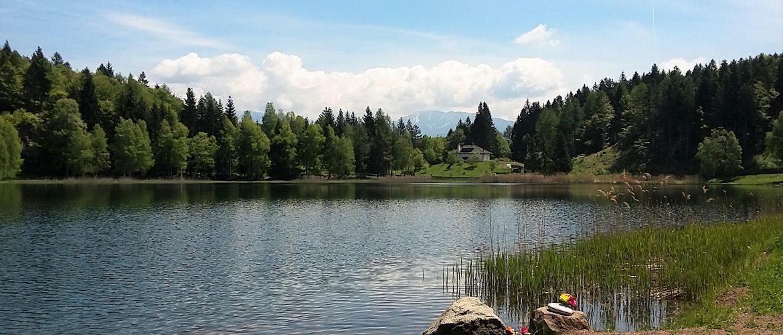 Visitare il lago santo in val di cembra