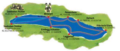 percorso rundfahrt millstaettersee