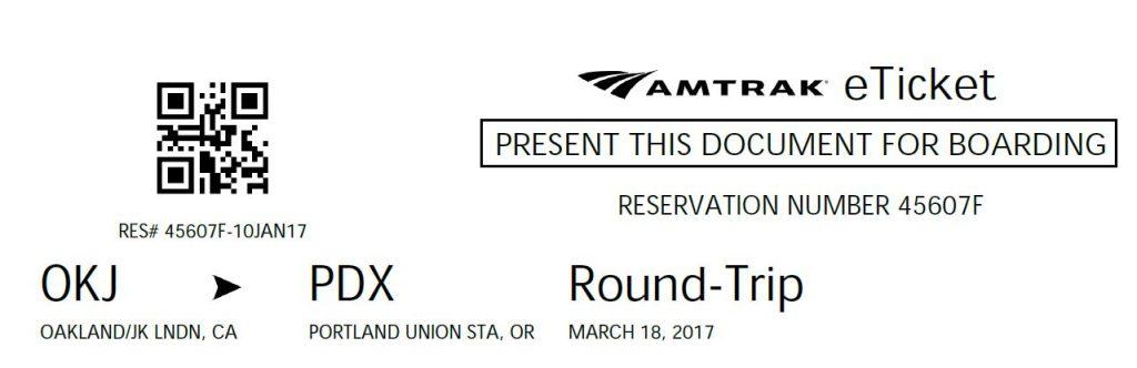 Come leggere il biglietto Amtrak