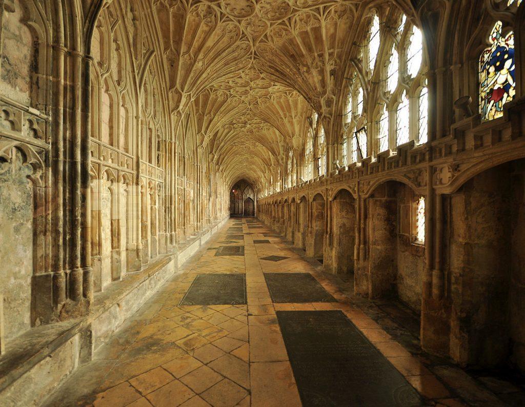 Corridoio cattedrale gloucester