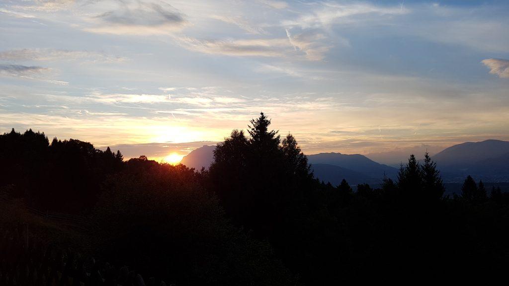 Carinzia Tramonto sul Dobratsch