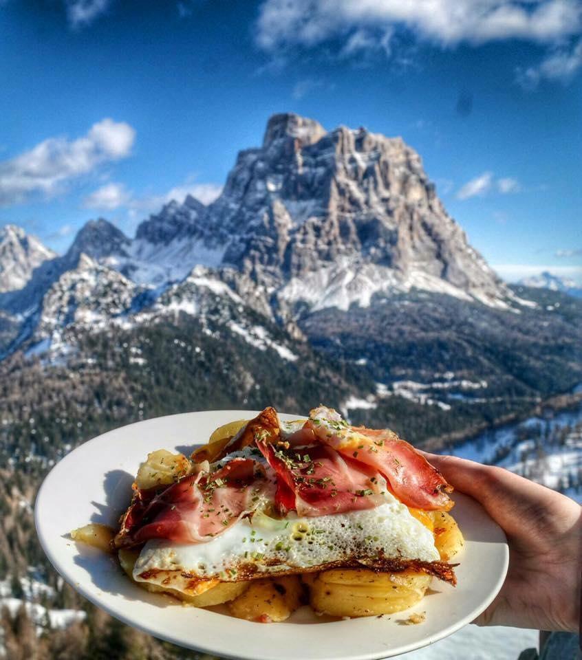 Mangiare sulle Dolomiti