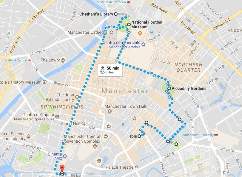 Itinerario primo giorno a Manchester