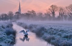 salisbury cathedral winter