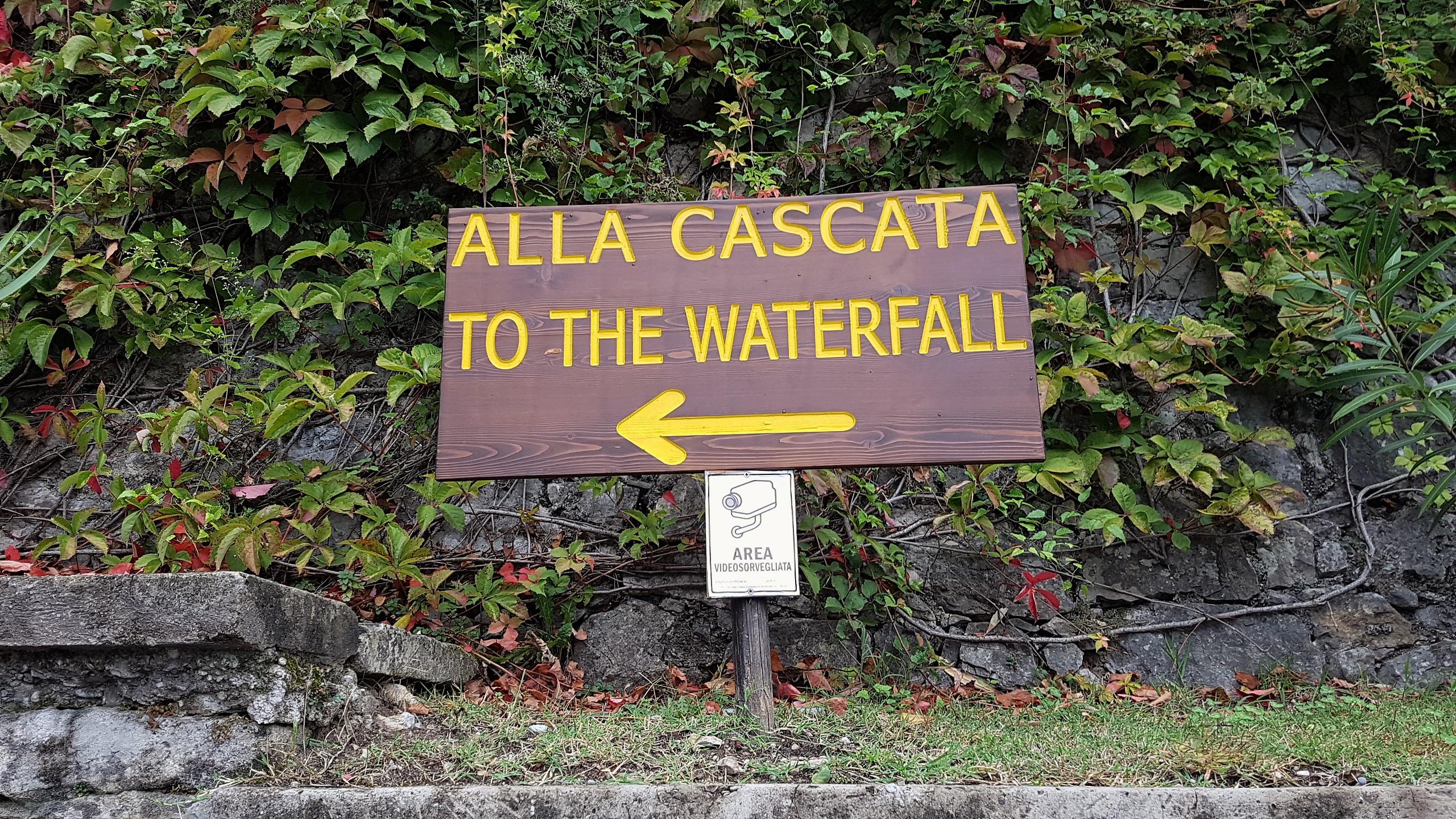 strada verso la cascata di Varone