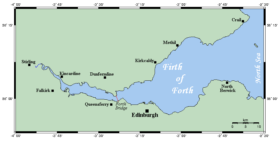 Mappa del Firth of Forth