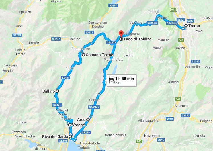 Percorso Trento Riva e Ritorno