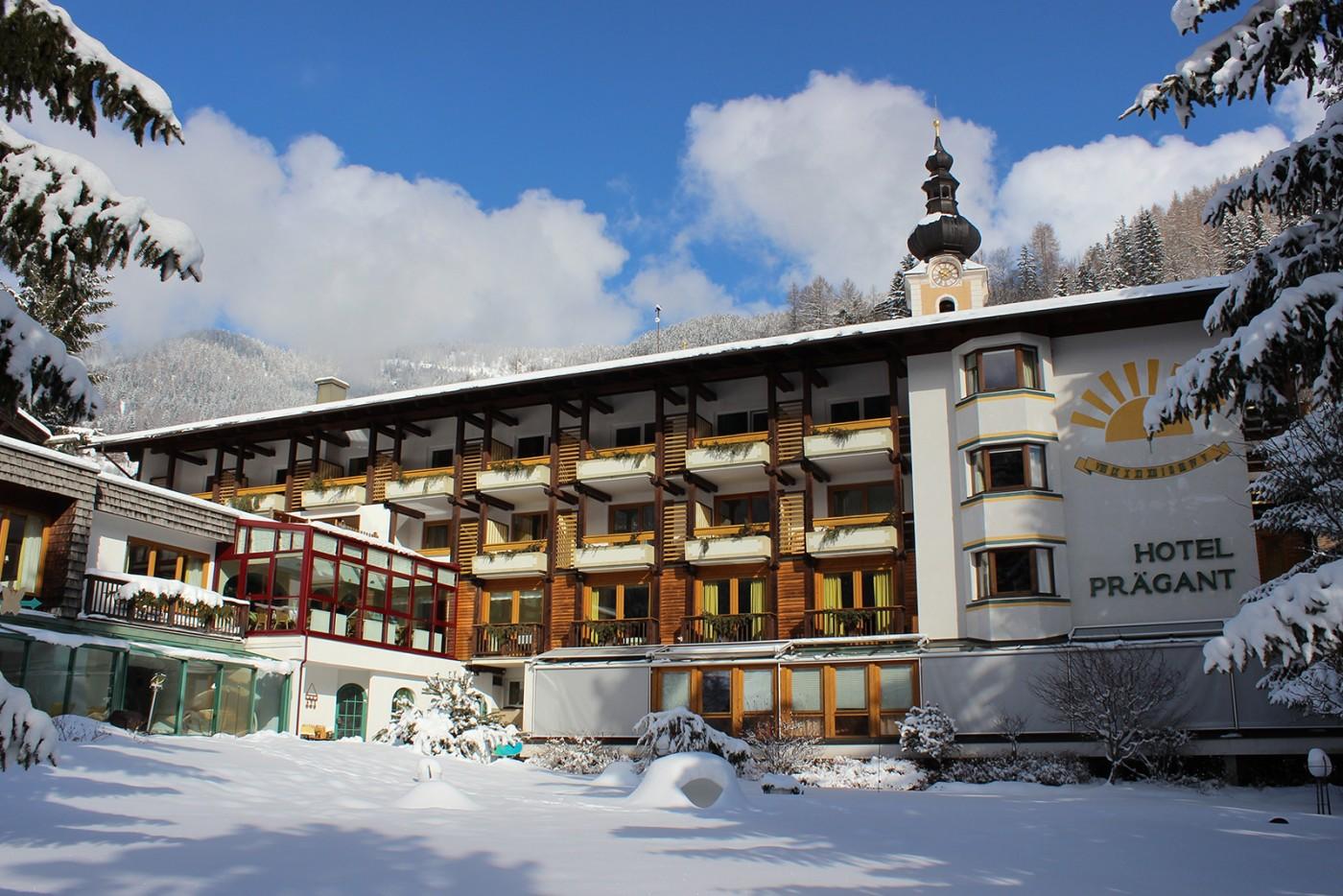 Hotel Prägant in inverno