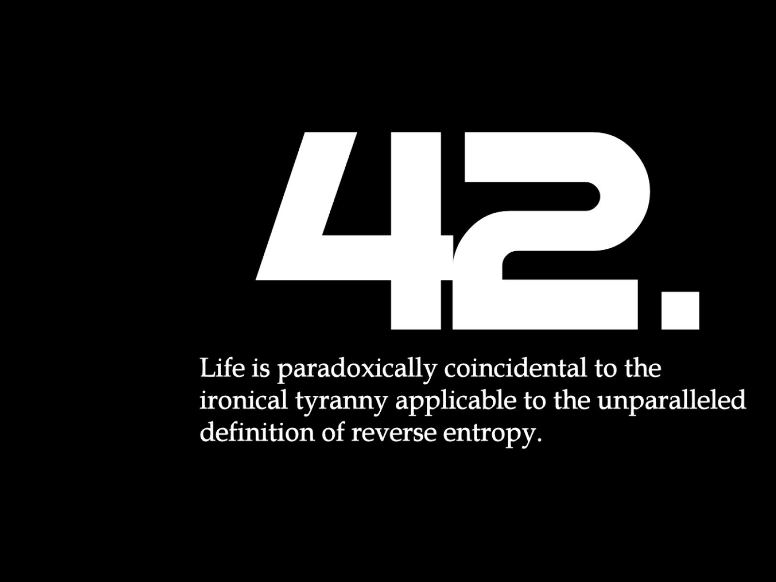 La risposta è 42