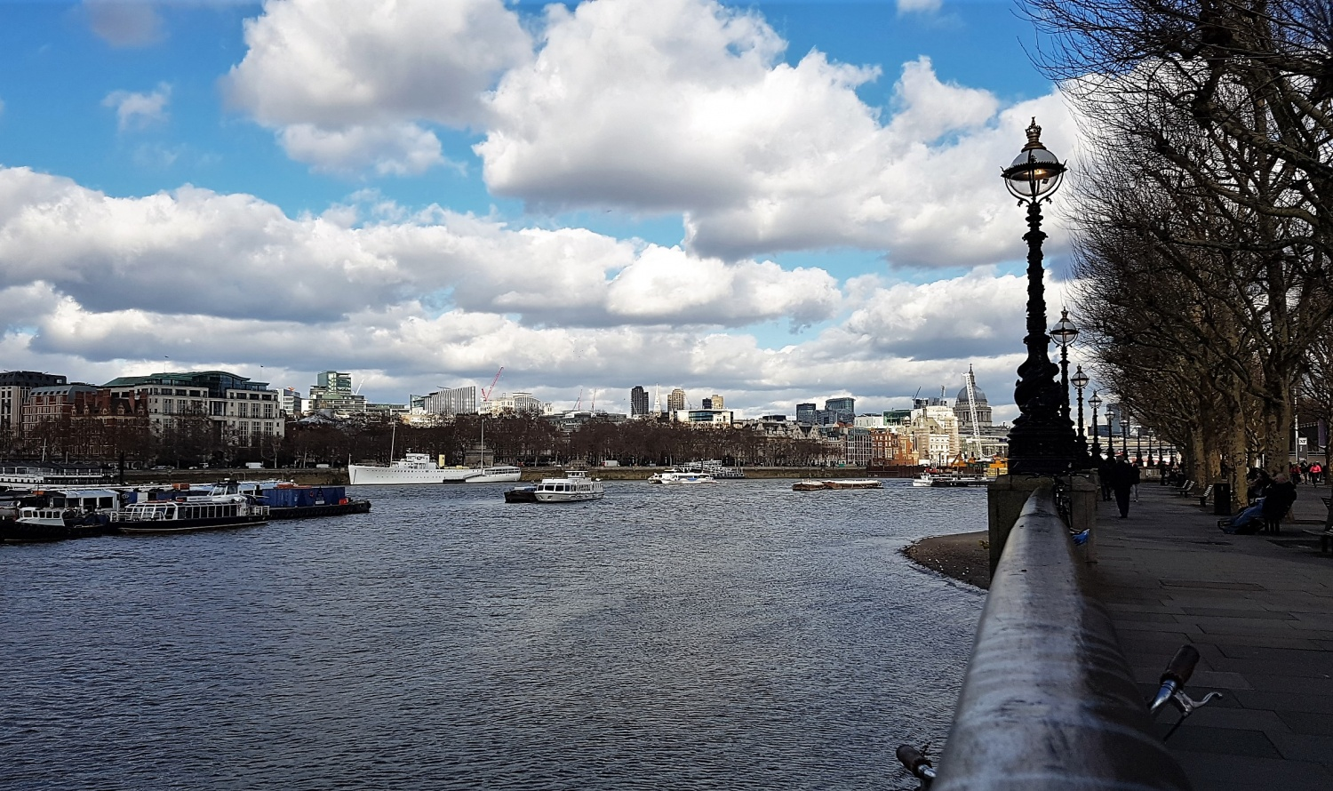 Londra passeggiare su South Bank