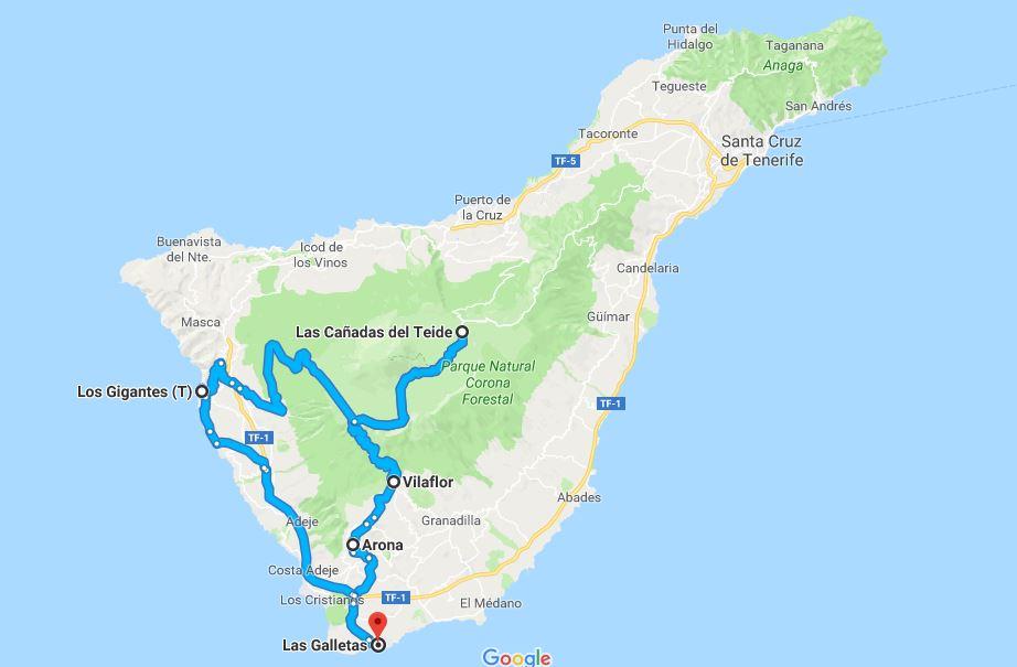 Percoso on the road sul Teide