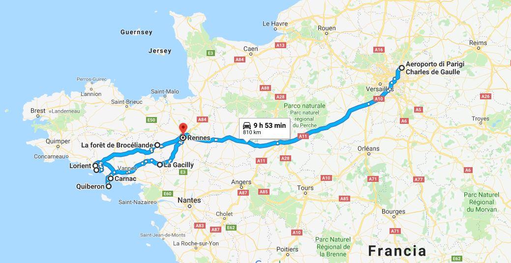 Itinerario di viaggio in Bretagna