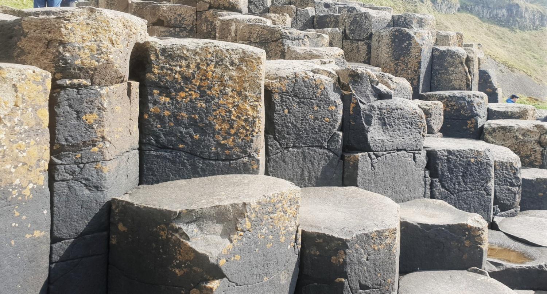 blocchi di pietra Giant's Causeway