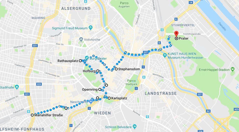 Itinerario per scoprire il centro di Vienna