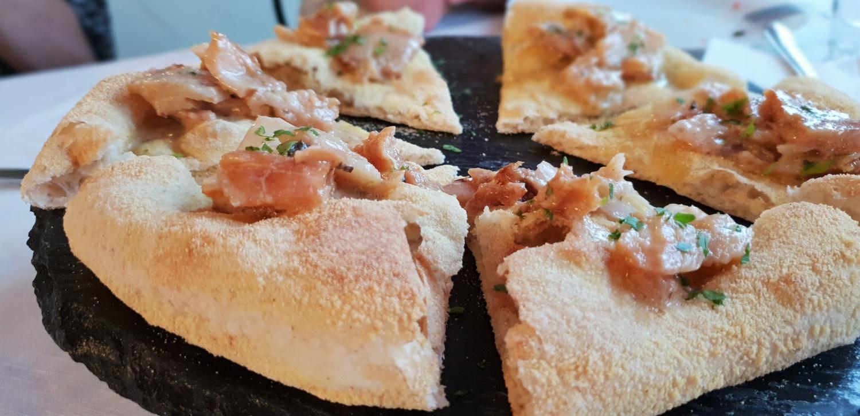Pizza col bacalà
