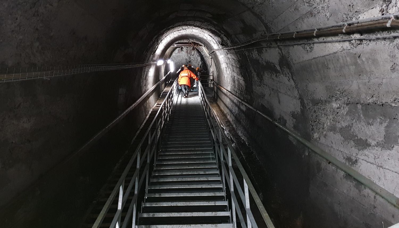 miniera scala in salita
