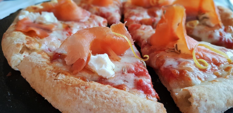 Pizza con trota del Chiampo