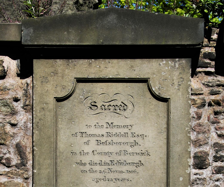 Tomba di Thomas Riddell