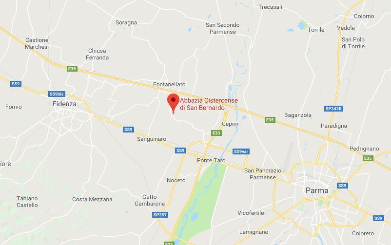 Dove si trova l'abbazia di Fontevivo