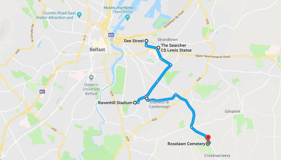 I luoghi di George Best a Belfast