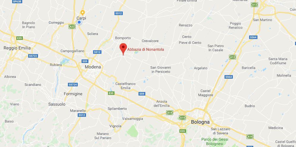 Dove si trova l'abbazia di nonantola