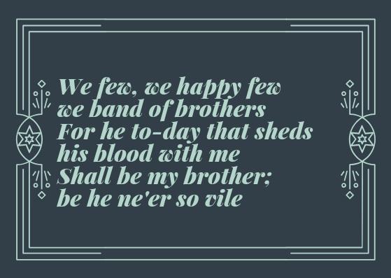 Henry V Discorso di San Crispino