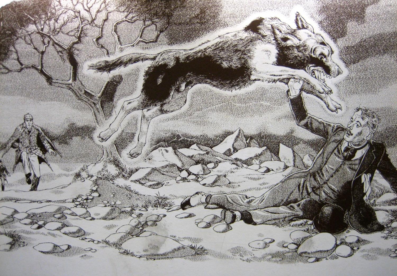 illustrazione Mastino dei Baskerville