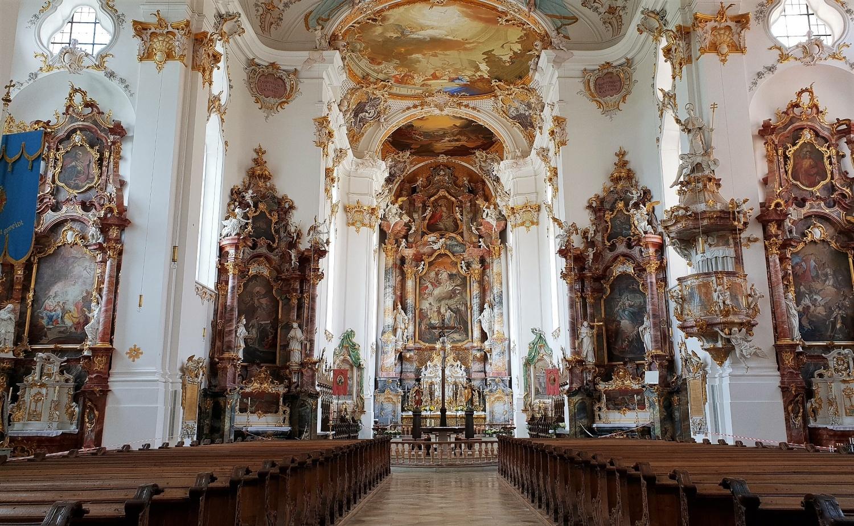 interno chiesa Kloster Roggenburg