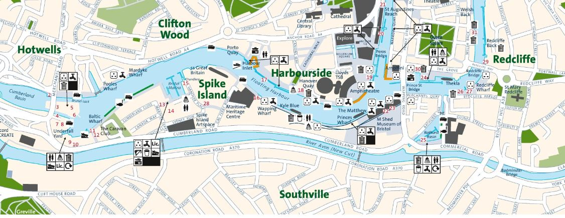 dove si trova Harbourside a Bristol