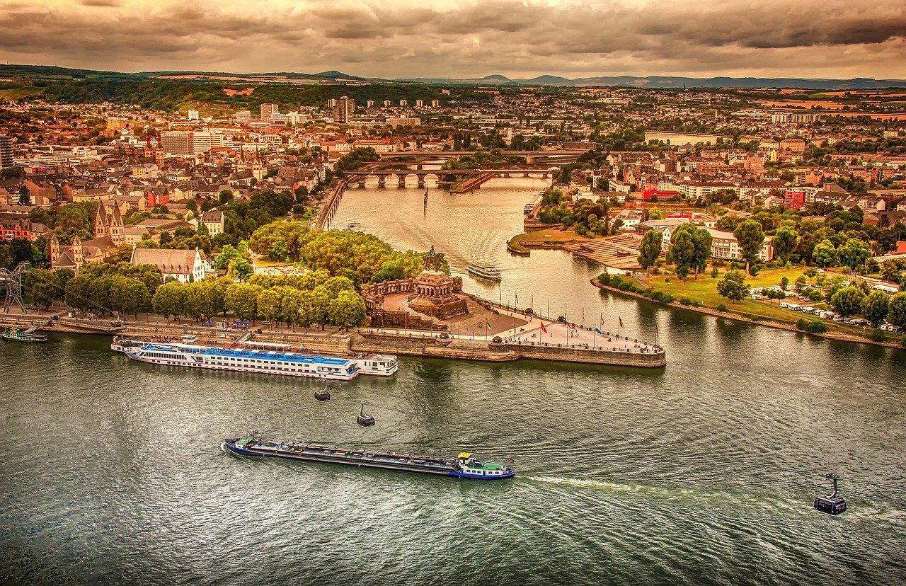 Koblenza e il Reno