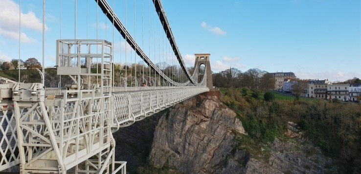 Camminare sul Clifton Bridge Bristol