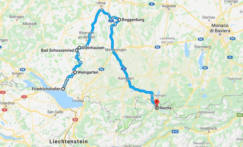 Itinerario per scoprire l'Alta Svevia