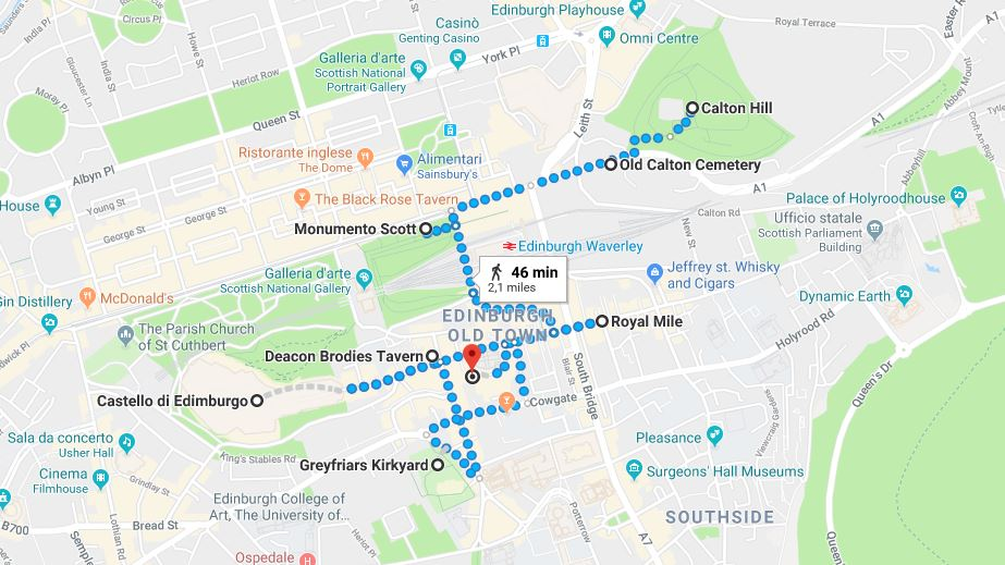 Itinerario primo giorno a Edimburgo