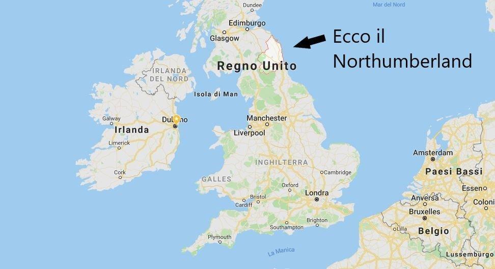 Dove si trova il Northumberland