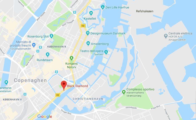 Dove si trova la biblioteca nazionale a Copenhagen