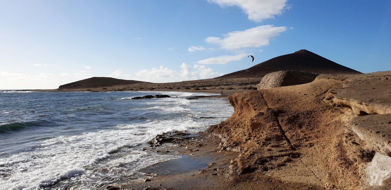 Playa El Medano lato montagna