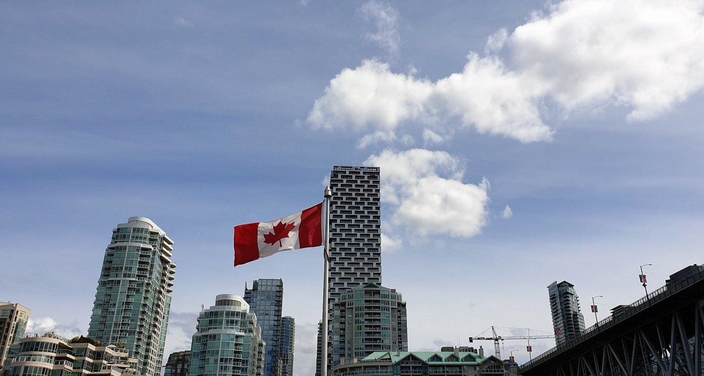 Bandiera Canadese Granville island