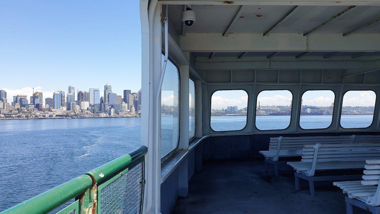 Seattle vista dal traghetto