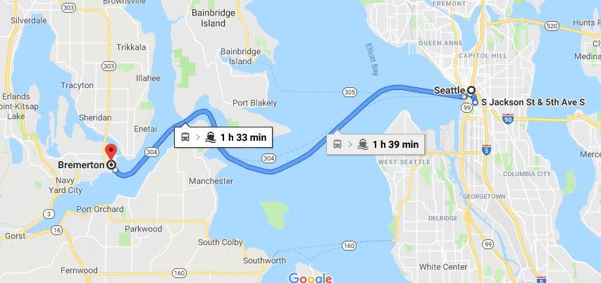 Viaggio tra Seattle e Bremerton