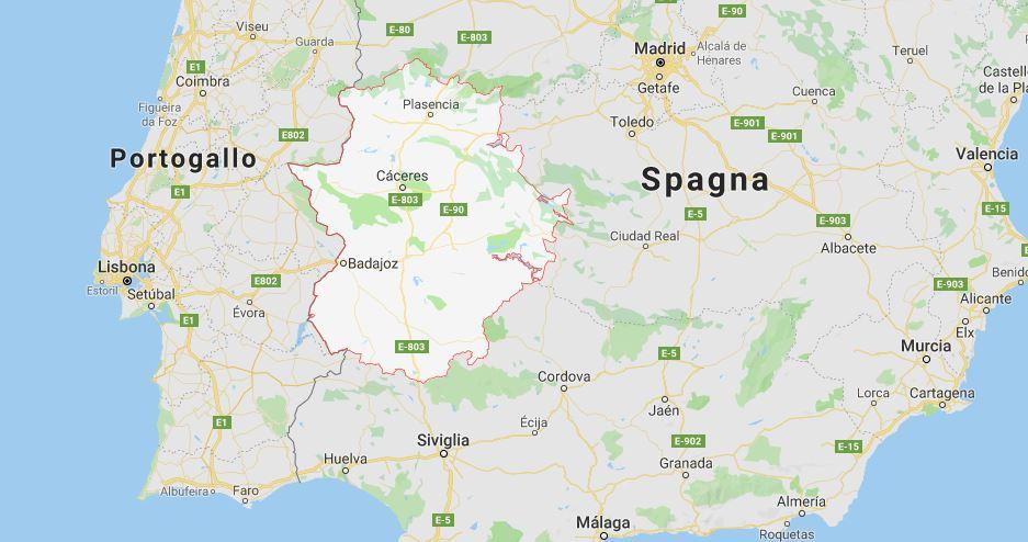 Dove si trova l'Extremadura