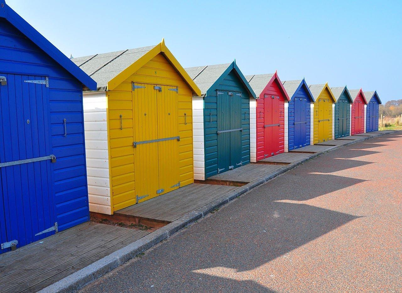 Case colorate nel Devon